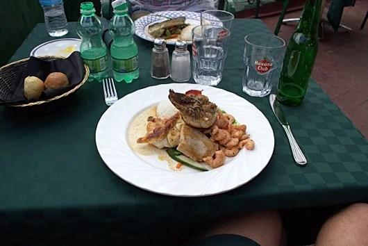 Delicious seafood at La Moneda