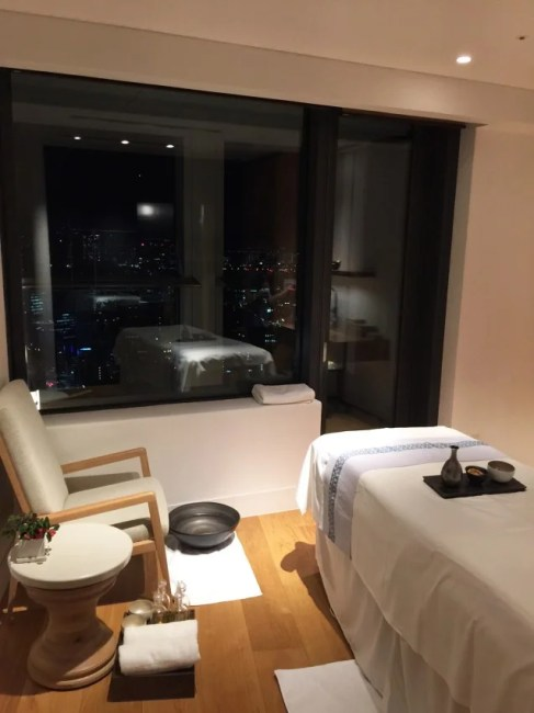 One of five treatment rooms at the AO Spa Andaz Tokyo.