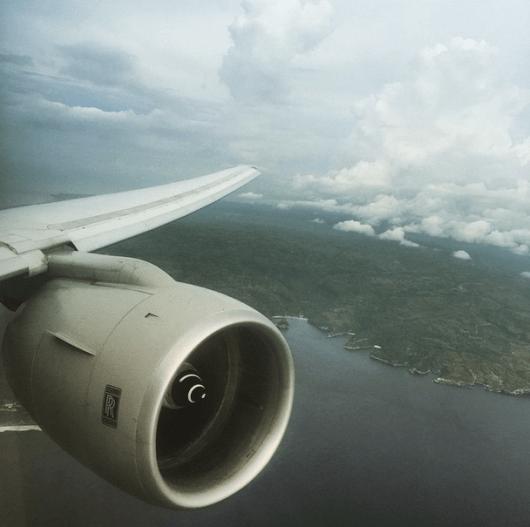 My final approach into Bali's Denpasar (DSP)