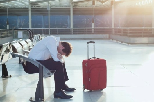 Falling suitcase injuries can cause many problem, including mild traumatic brain damage. Photo courtesy of Shutterstock.