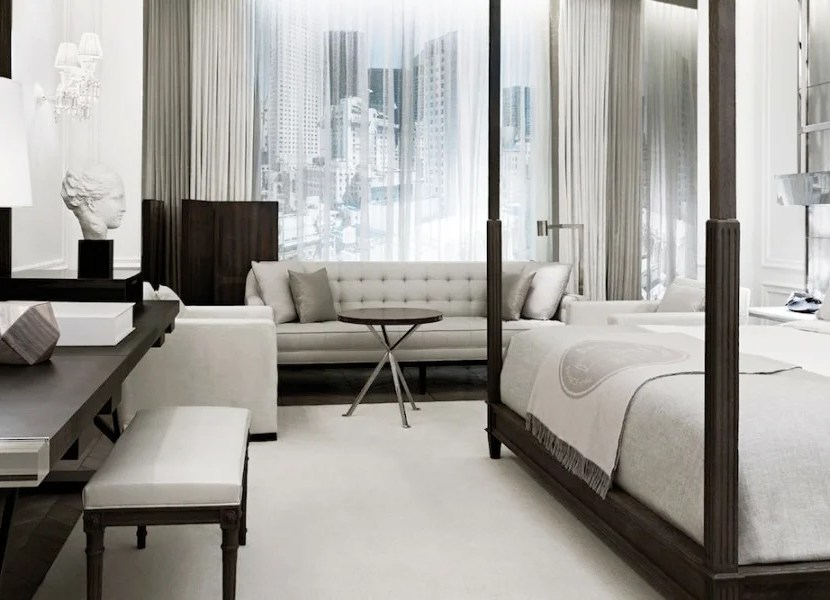 Guestrooms at New York's new Baccarat Hotel look stunning.