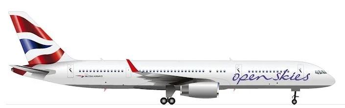 The Boeing 757-200 OpenSkies plane I flew