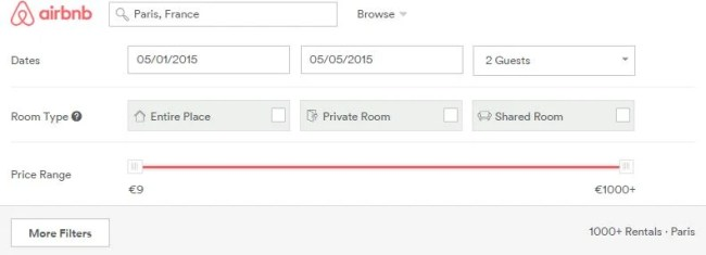 """Make sure to check """"Entire Place"""" if you want a private apartment or home. Click on """"More FIlters"""" to narrow your search even further."""