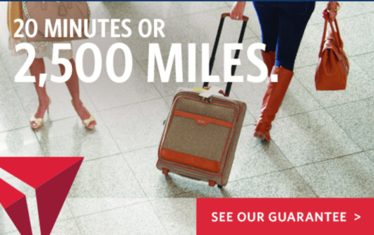 Delta will offer SkyMiles members 2,500 SkyMiles if their bag doesn't arrive within 20 minutes.