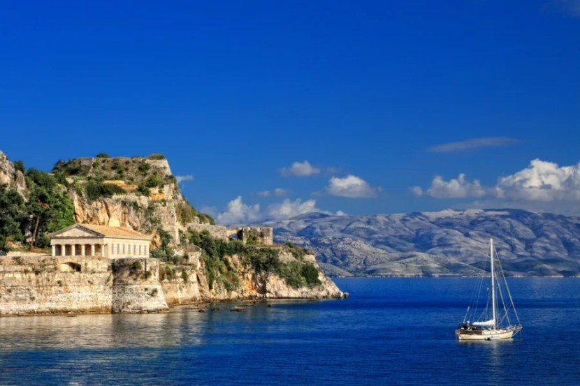 Hellenic temple at Corfu - Courtesy of Shutterstock