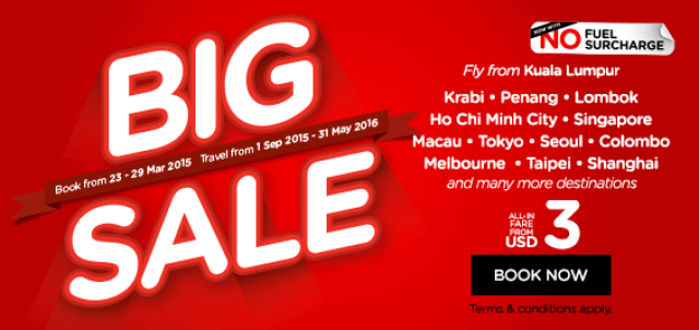 Save with AirAsia's Big Sale