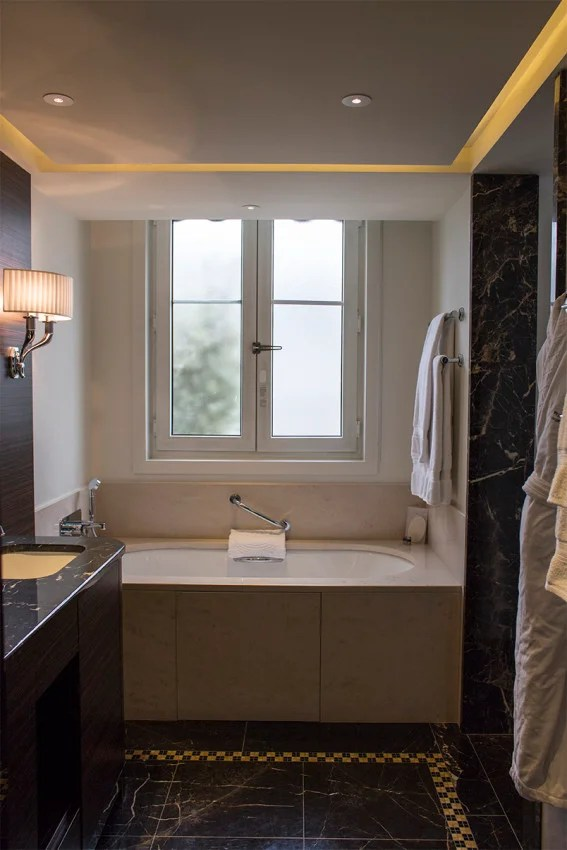 Natural light in the bathroom makes it feel like home.