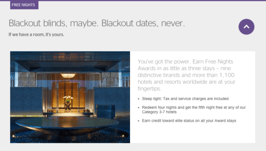 """Many chains (including SPG) advertise """"No blackout dates,"""" but do they actually mean it?"""