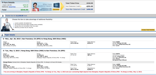 Fly from SFO-HKG for $546 roundtrip.