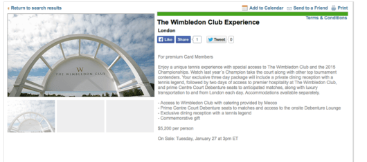 Snag a VIP Wimbledon experience for $5,200 a person
