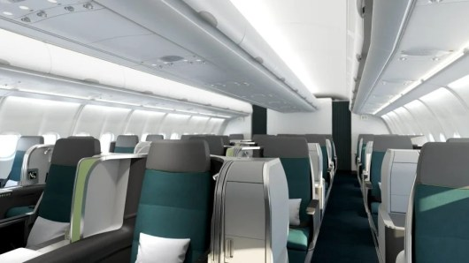 Aer Lingus has started installing its new business class seats aboard its A330's.