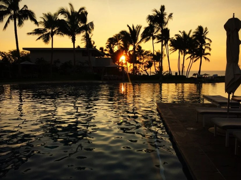 A magical Maui sunset from the Andaz pool.