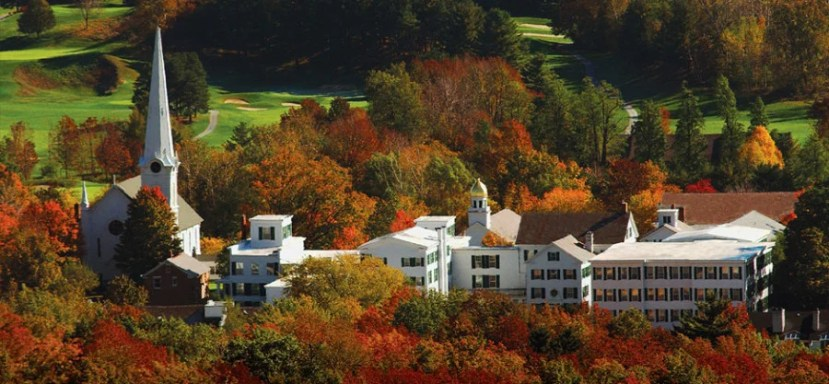 The fall foliage is just one reason to visit The Equinox Resort & Spa