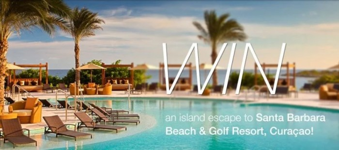 Win a trip to Curacao