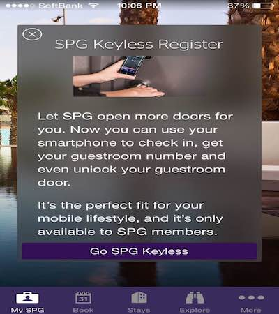 Soon enough, you may never have to stop at a front desk again. Register your phone to work with SPG Keyless.