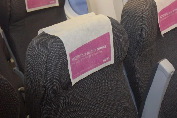 The XL seat from WOW Air offers some extra space during the 5 hour flight from BOS>KEF