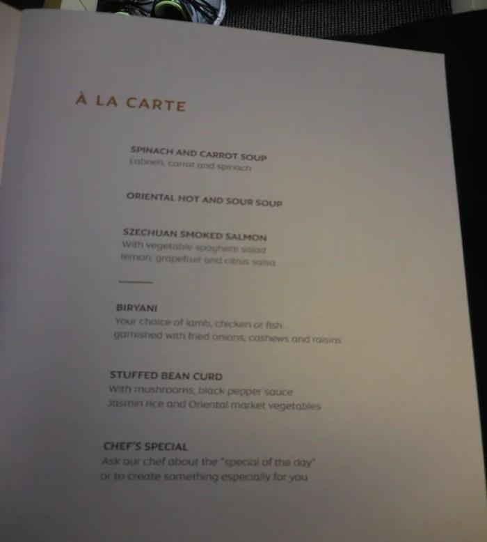 Eat-anytime menu.
