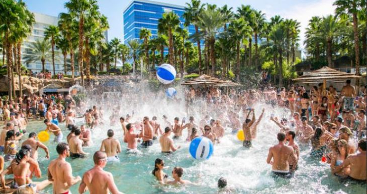 A Rehab pool party at the Hard Rock Hotel in Las Vegas