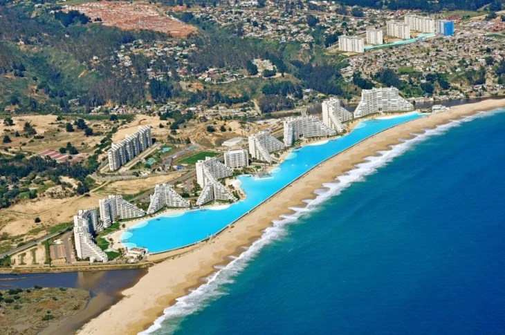 You can swim in the biggest swimming pool in the world in Chile