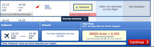 One way taxes and fees comes to $203 now to fly Iberia transatlantic.