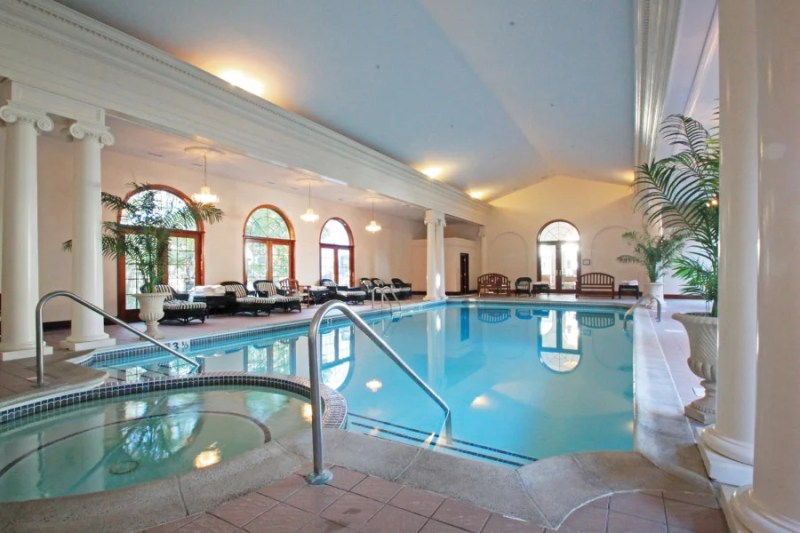 Indoor pool at the Bluenose Inn, which can be booked through the Amex Travel portal.