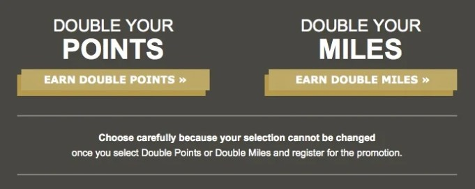 Double Your HHonors extended through August 31.