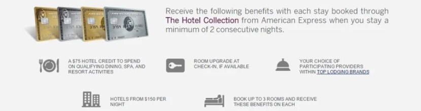 The most enticing aspect of the Hotels Collection is the $75 hotel credit, which is offered separately on up to three rooms in a single reservation.