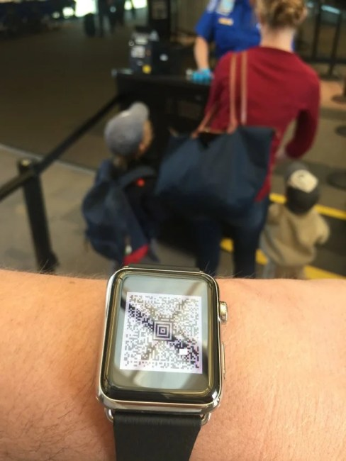 I was able to use my mobile boarding pass on my Apple Watch through TSA Precheck
