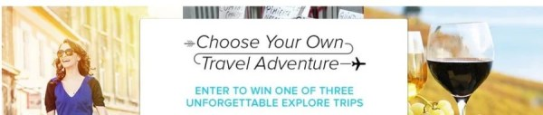 Win one of three fabulous vacations