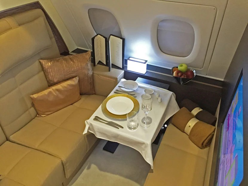 The Etihad Residence's dining room is as big as the public lounges you'll find on other planes.