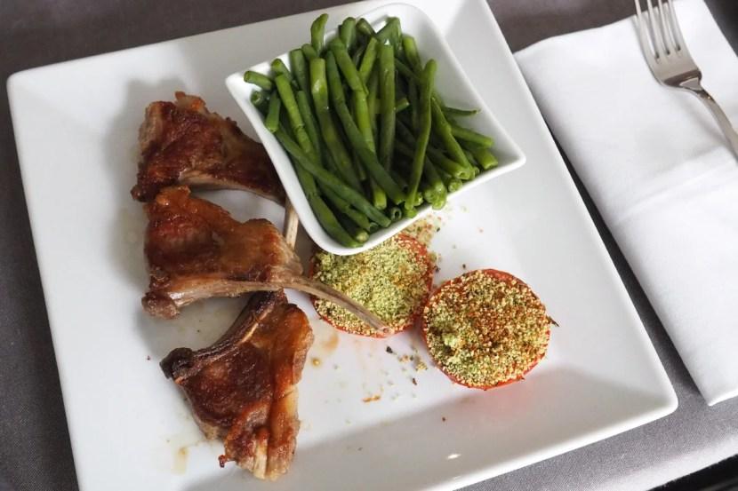 Room service lamb chops.
