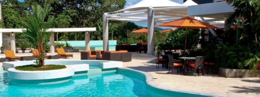 You'll be able to choose between two outdoor pools at the Radisson Summit Hotel in Panama.