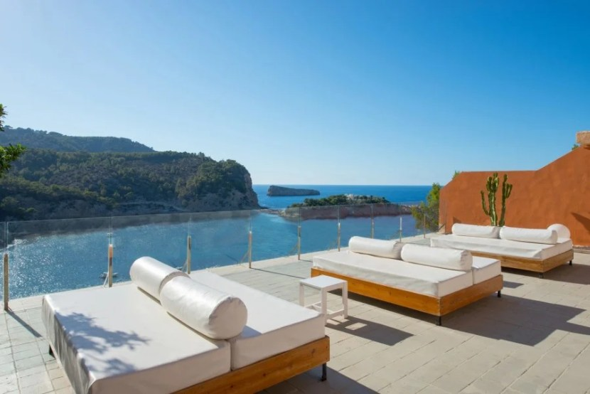 The sundeck at the Ole Galeon Ibiza. Photo courtesy of the hotel.