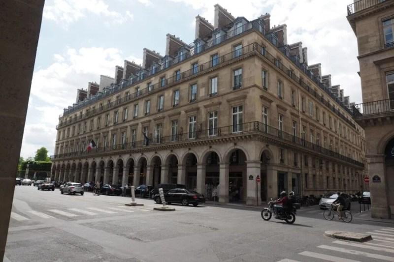 The stately facade of the Westin Paris - Vendôme.