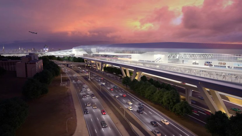 The new airport will be located a bit closer to Grand Central Parkway, providing easier access by car.