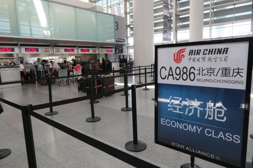 Air China check-in desk