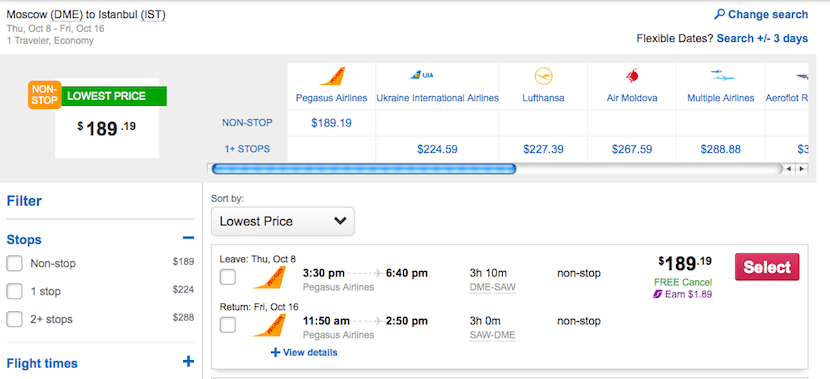 Take a super cheap flight on budget carrier Pegasus.