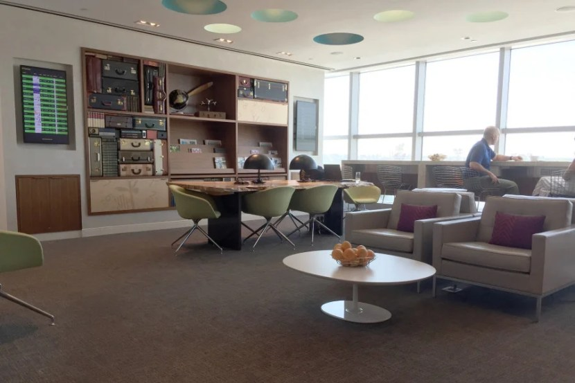 The Centurion Lounge at LaGuardia Airport (LGA).