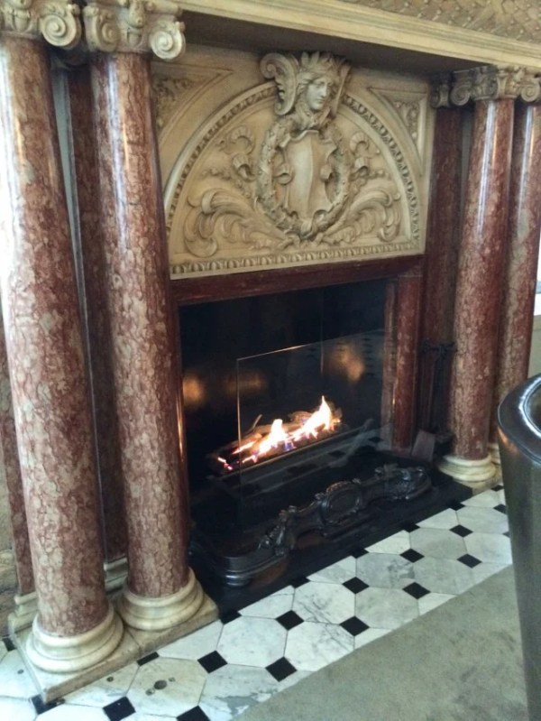 I wouldn't have minded an on-site spa, but i managed to console myself before the spectacular stone-and-marble fireplace in the lobby.