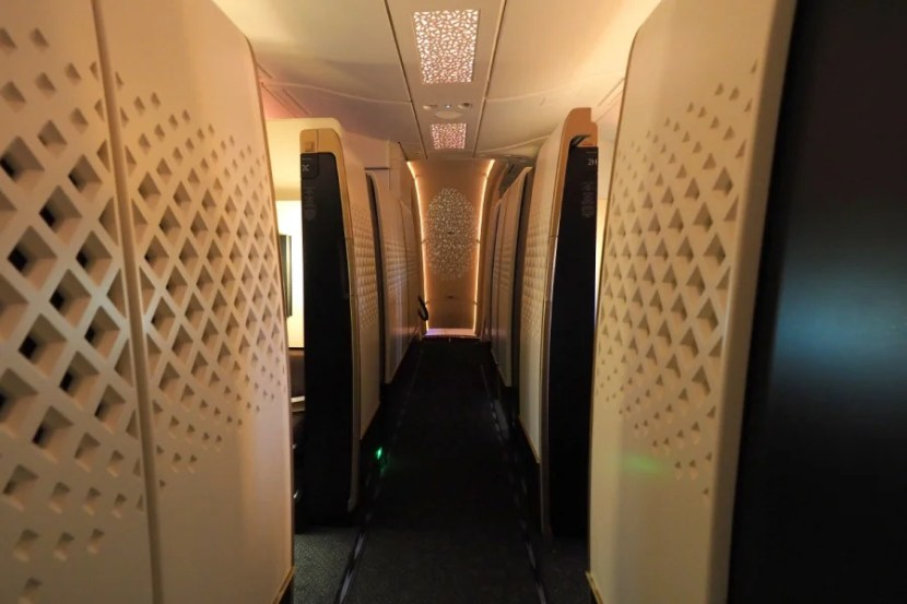 The first-class cabin consists of nine Apartments, plus The Residence.