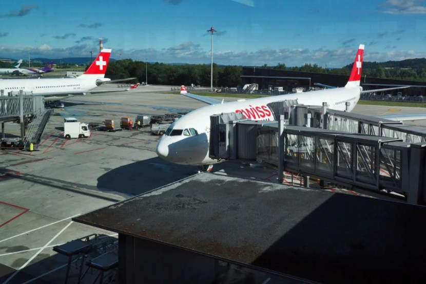 Our Swiss A330 parked at Zurich (ZRH).