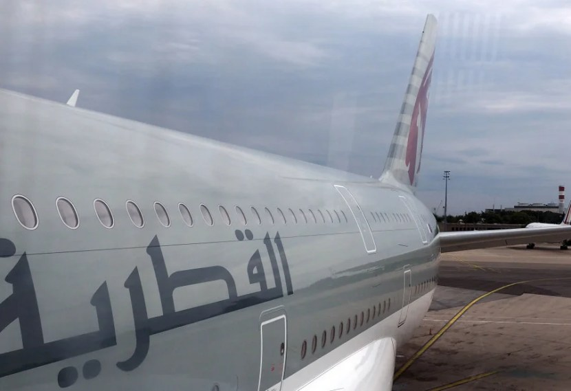 A look at the plane's exterior.