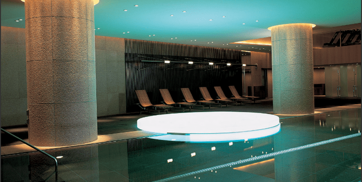 The Grand Hyatt Tokyo's indoor lap pool and attached fitness center has been one of my favorite fitness centers around the world. The hotel offers a $100 food and beverage amenity through FHR.