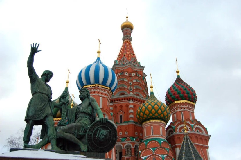 Seeing the onion domes of St. Basil's Cathedral in person requires a visa for US citizens.  Photo by Katie Hammel
