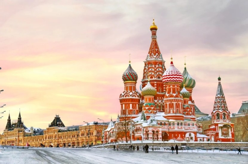 St. Basil's and Red Square. Photo courtesy of Shutterstock.