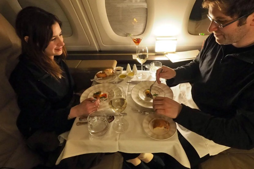Etihad A380 The Apartment - Table for Two