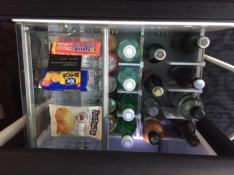 Love the free minibar items.