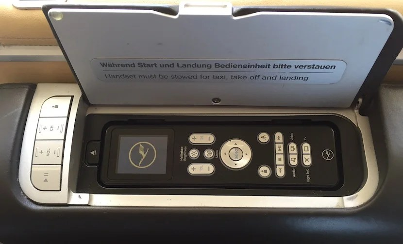 The IFE remote control.