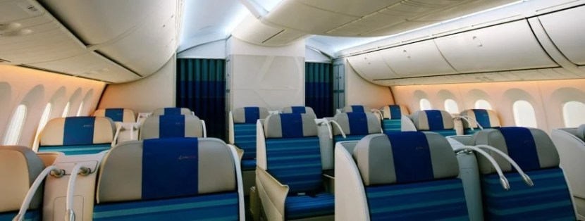 Business class aboard LOT's 787, now bookable on United.com.