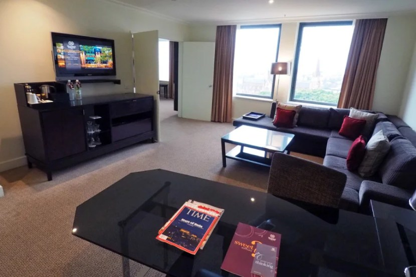 While the Park View room was very nice, the Executive Suite was a big step up.